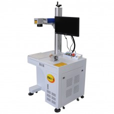 30W Desktop Fiber Laser Marking Machine for Metal Marking Engraving Etching with High Accuracy from CA (express free to your door)