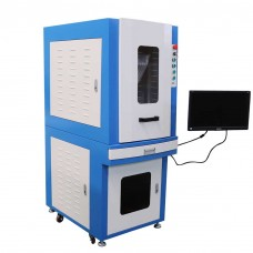 30W Enclosed Fiber Laser Marking Machine Stainless Steel Carbon Steel Surface Engraving System (free shipping to your local sea port)