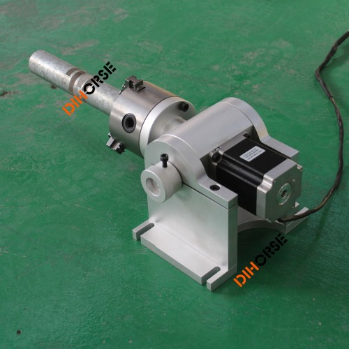 80mm 3 Jaw Rotary Axis Rotary Attachment For Fiber Laser